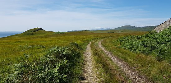 Corryvreckan Whirlpool: Example of the main path you follow for about 1.5 hours to get to the less well marked path