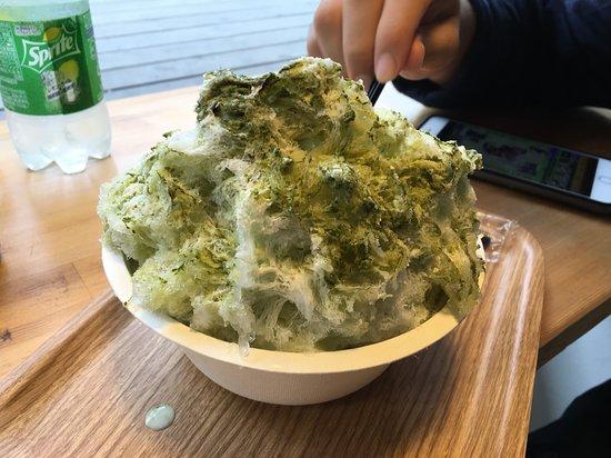 ROCKSIDE MARKET Cafe, 抹茶のかき氷