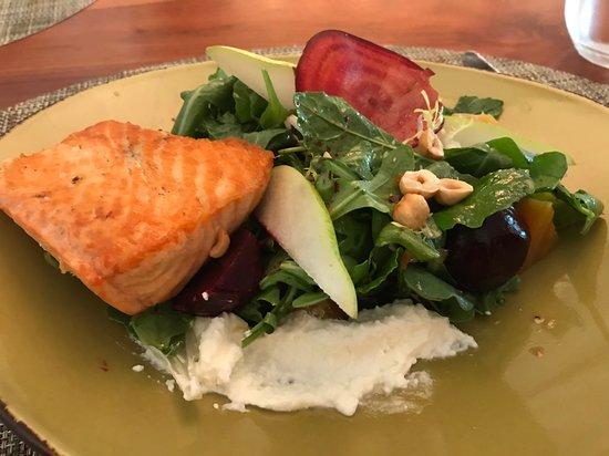 Harth at the Hilton McLean Tysons Corner: Salmon on Salad