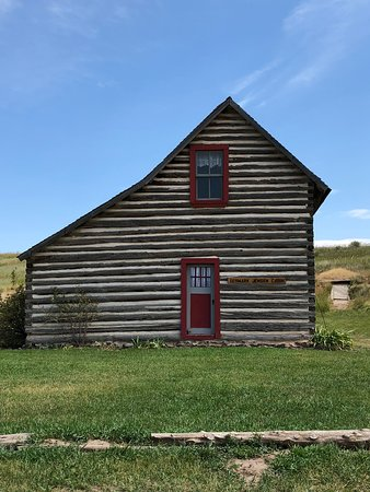 Bancroft, ID: Old Salt Box house because it was the shape of a salt box