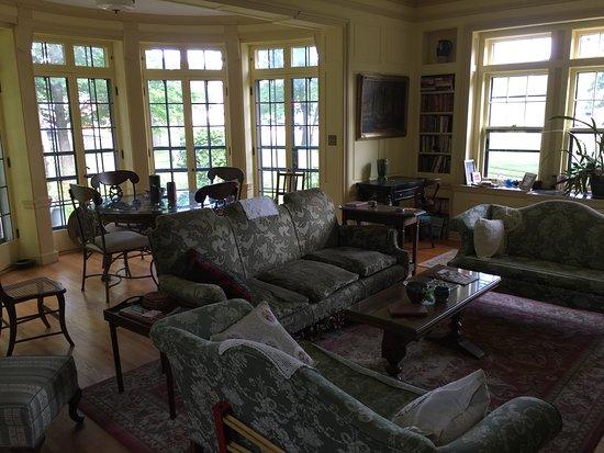 Deerwood, MN: The reading room.