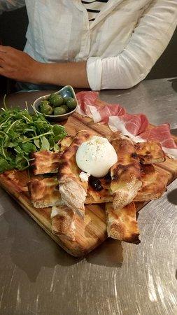 Il Buco: Burrata starter. Prosciutto was great too...