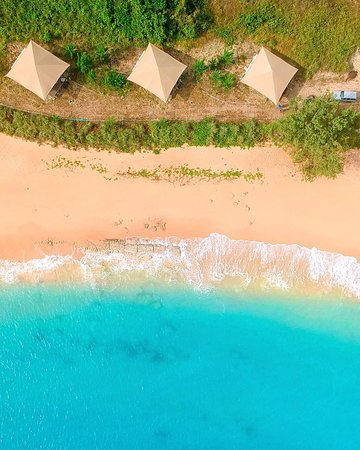 Bremer Island, Αυστραλία: Beach Front Tents view