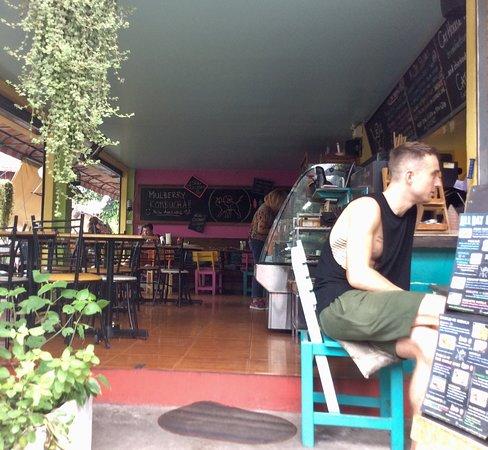 Cat House Restaurant: Entrance & cafe