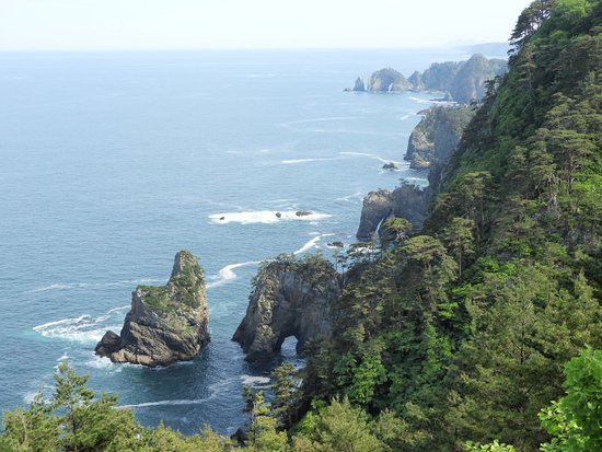 田野畑村, 岩手県, 第一展望台からの壮大な眺め