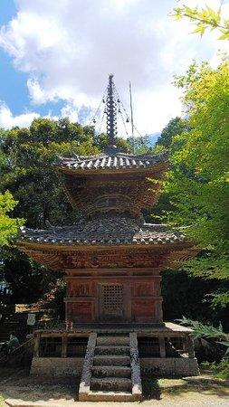珍しい多宝塔がある寺
