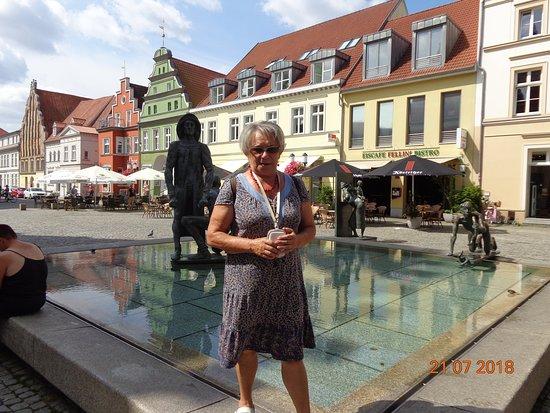 Poseritz, Germany: Miasto Greifswald na rynku Starego Miasta.