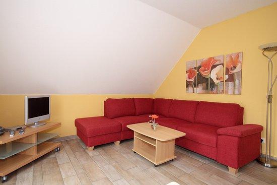 Elend, Niemcy: Wohnzimmer, Apartment mit 1 Schlafzimmer