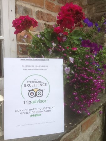 Perranwell Station, UK: CERTIFICATE OF EXCELLENCE