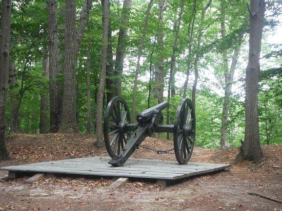 Stafford Civil War Park: Union cannon