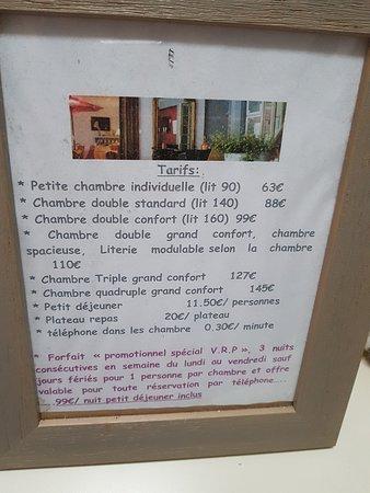 Milon-la-Chapelle, Francia: tarifs