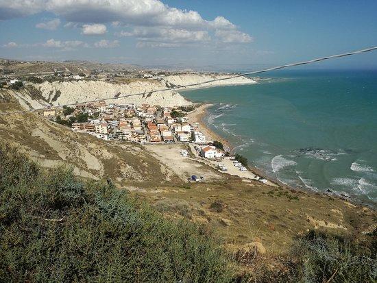 Faro di Capo Rossello: Vista dal faro del lido di capo Rossello