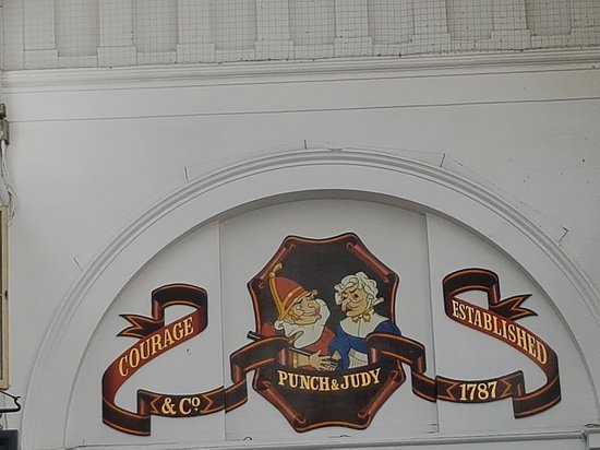Punch & Judy: The painted sign