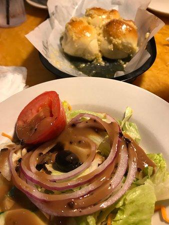 Salad & Rolls