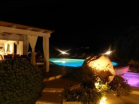 Rudalza, Italien: Pool bei Nacht