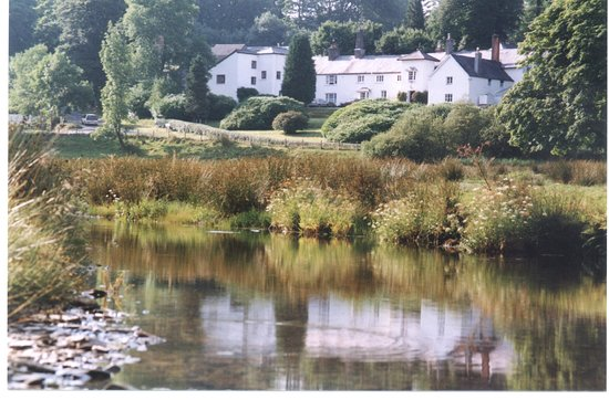 Simonsbath House from the River Barle
