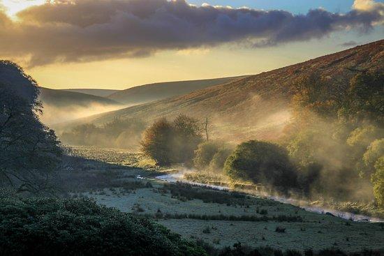 Barle Valley from Simonsbath House at dawn