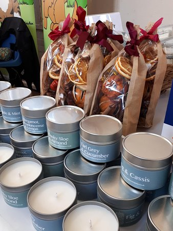 The White Candle Company : All candles are handmade on the premises.  Courses are offered too!