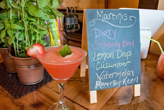 Biddeford, ME: Strawberry basil martini