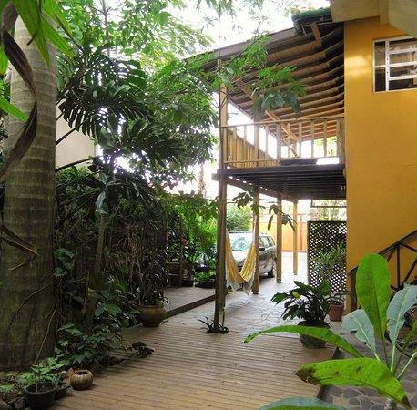 Ibiraquera, SC: jardim interno