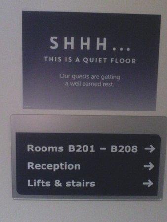 Acton, UK: So called quiet floor