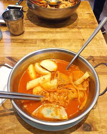 Seoul Bakery: Rabokki with dumplings