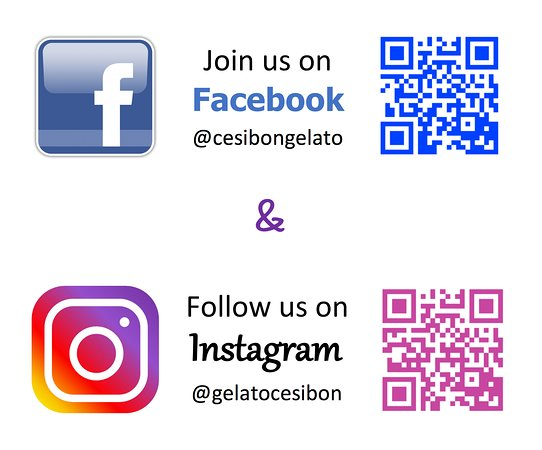 Scan the QR codes OR search for our name to join us on