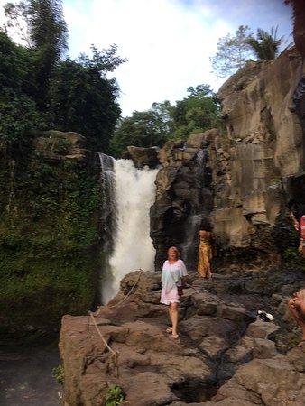 At Tegenungan waterfall