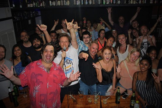The Comedy House Bangkok: We call this the House Selfie! Such wonderful people and a great night at The Comedy House Bangk