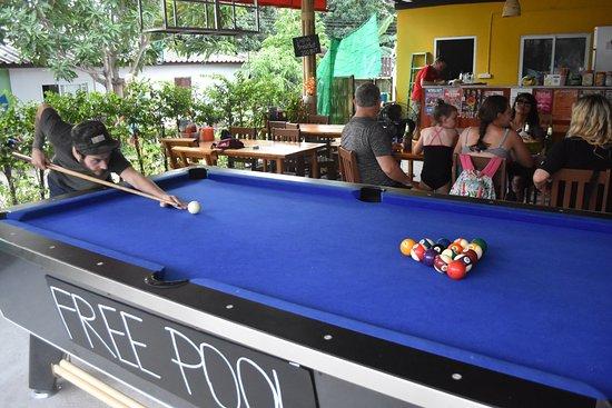 free pool table picture of nine restaurant and bar ban thong rh tripadvisor com