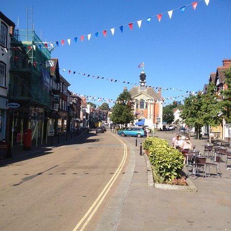 Henley-on-Thames, UK : Main area of Henley pre regatta