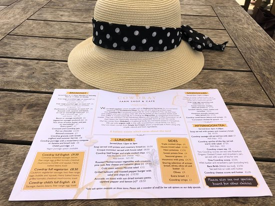 Easebourne, UK: Wide menu choice