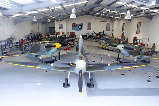 Biggin Hill, UK: A view of one of our aircraft Hangars.