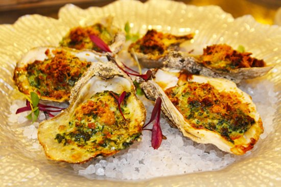 Rockefeller - Oysters   Baby Spinach   Pernod   Celery