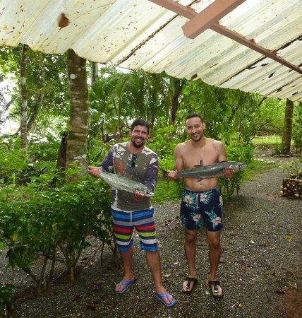 Isla Cebaco, ปานามา: verse vis voor het diner, zelf gevangen