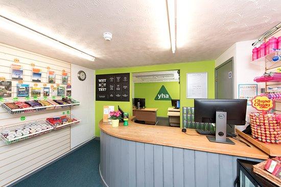 YHA Okehampton: Reception Desk and Meals Board