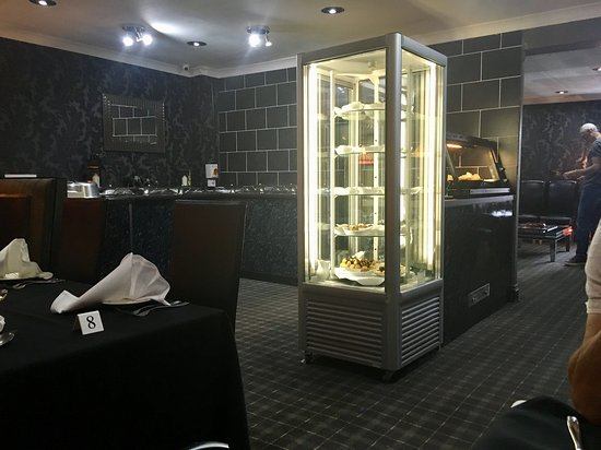 Kilbirnie, UK: View includes dessert cabinet and refurbished buffet area ..