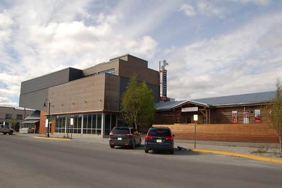 Whitehorse, Canada: Photo of MacBride Museum, with new extension shown