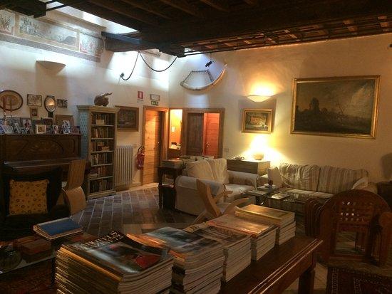 Casperia, Italie: The lounge area