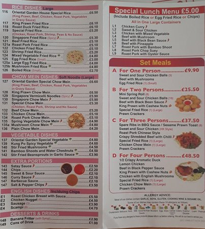 oriental garden bacton restaurant reviews phone number photos tripadvisor - Oriental Garden Menu