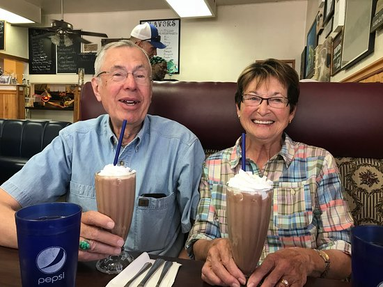 Echo, OR: Great shared real ice cream shake