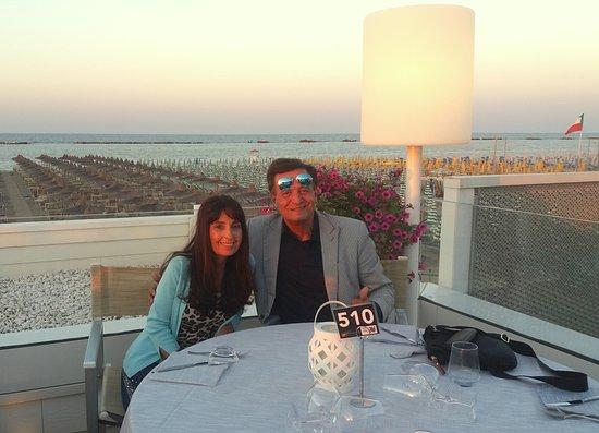 Ristorante Bagno 69 Cesenatico : Cena in terrazza foto di ristorante riviera cesenatico