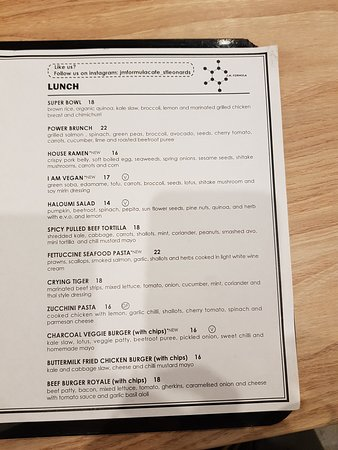 St Leonards, Australien: Lunch Menu