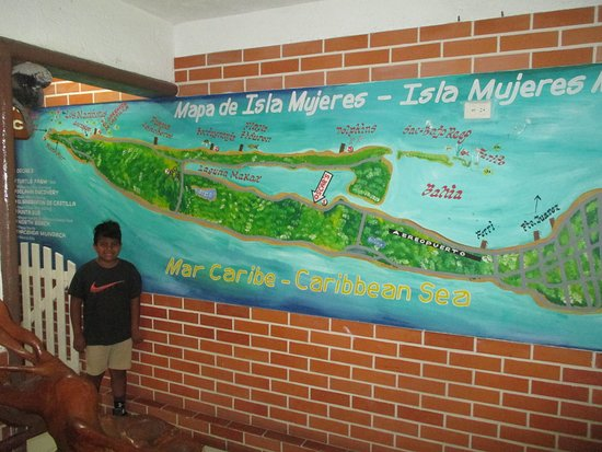 Oscar's Grill: Map of Isla Mujeres ...happy times !