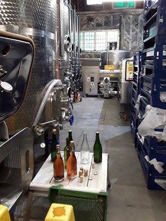 Linton, UK: Inside the winemaking area.