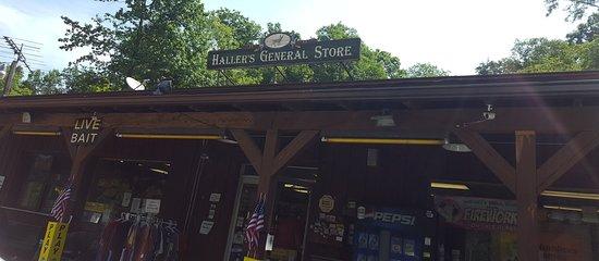 Tionesta, PA: Hallers Sign