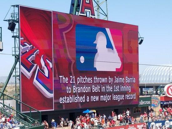 Jumbotron Picture Of Angel Stadium Of Anaheim Anaheim Tripadvisor