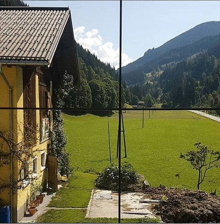 Eben im Pongau, Austria: Window view from the room