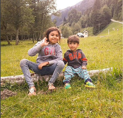 Eben im Pongau, Austria: My kids in surrounding area