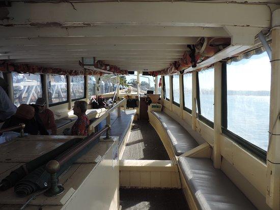 inside of ferry - Ferry Tea Gardens To Nelson Bay